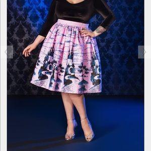 EUC PUG Pink Castle Print Bella Skirt size 2X